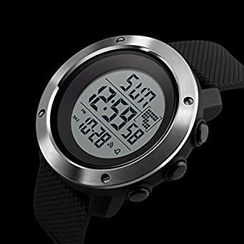 PHCOOVERS デジタル 腕時計 メンズ レディース 男女兼用 ミリタリー ウォッチ アラーム クロノグラフ 多機能 (ブラ_画像2
