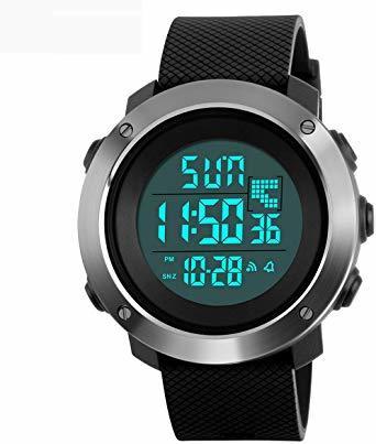 PHCOOVERS デジタル 腕時計 メンズ レディース 男女兼用 ミリタリー ウォッチ アラーム クロノグラフ 多機能 (ブラ_画像1