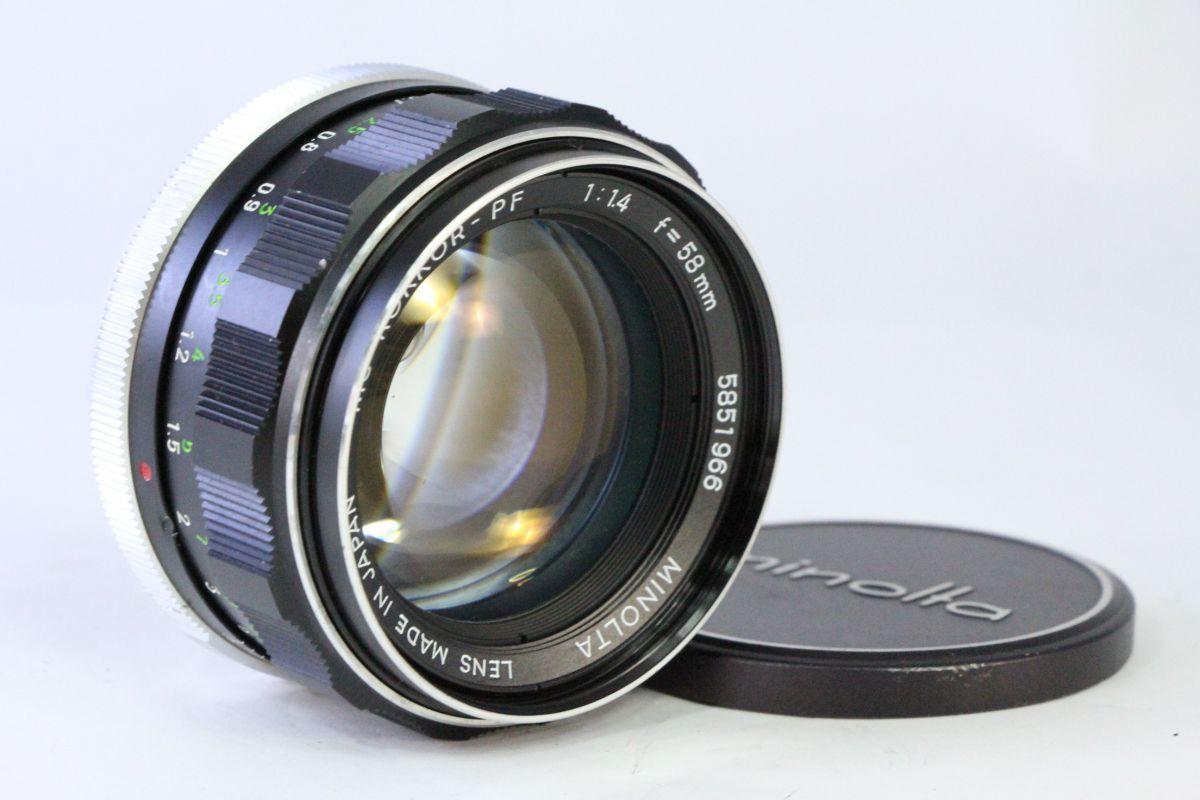 光学綺麗★ミノルタ MINOLTA MC ROKKOR-PF 58mm F1.4★ピントリングわずかに違和感★13635_画像1