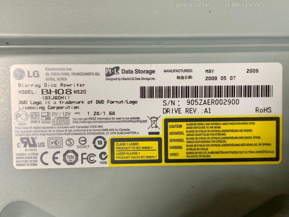 LG エレクトロニクス 内蔵BLU-Rayドライブ BH08NS20 中古