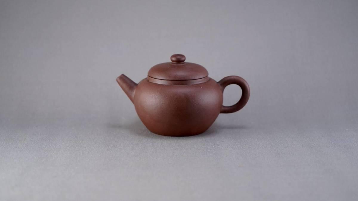 0731-8 唐物 朱泥 急須 在銘 煎茶道具 中国古美術 古玩 中国アンティーク サイズ:横10.9cmx高さ6.4cm