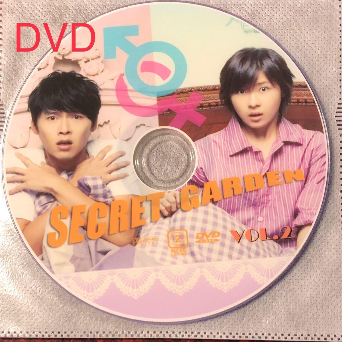 『シークレット・ガーデン』DVD版、日本語字幕、全20話、レーベル印刷あり。ディスク7枚。ヒョンビン、ハ・ジウォン、イ・ジョンソク