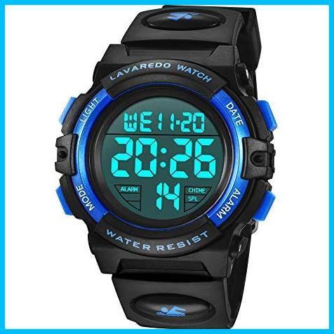 [特価] 子供腕時計 男の子 デジタル腕時計 ボーイズスポーツウォッチ アウトドア多機能50m防水 アラート 日付曜日表示 デュアルタイム LED_画像1