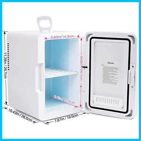 [特価] AstroAI 冷蔵庫 小型 ミニ冷蔵庫 小型冷蔵庫 冷温庫 2℃~60℃温度調整可能 6L 化粧品 小型でポータブル 家庭 車載両用 保温 保冷_画像9