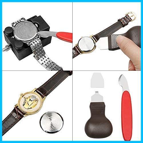 [特価] 時計工具 時計修理 電池交換 腕時計ベルト調整 バンド調整 時計道具セット 時計用工具 収納便利 腕時計修理工具キット_画像4