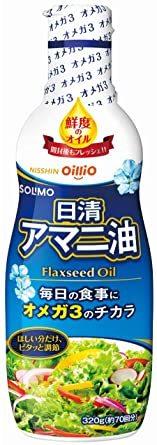 320g [Amazonブランド] SOLIMO 日清オイリオ アマニ油 フレッシュキープボトル 320g_画像1
