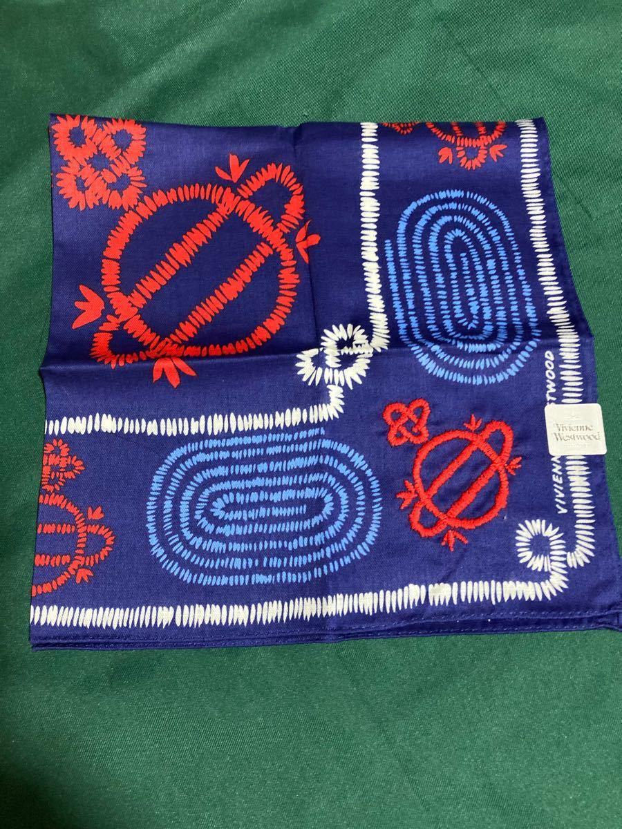 ☆ヴィヴィアンウエストウッド  Vivienne Westwood   ハンカチ 綿100%     日本製 2枚セット