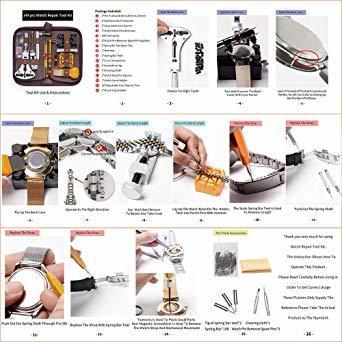 E·Durable 腕時計工具 腕時計修理工具セット 電池交換 ベルト交換 バンドサイズ調整 時計修理ツール バネ_画像9