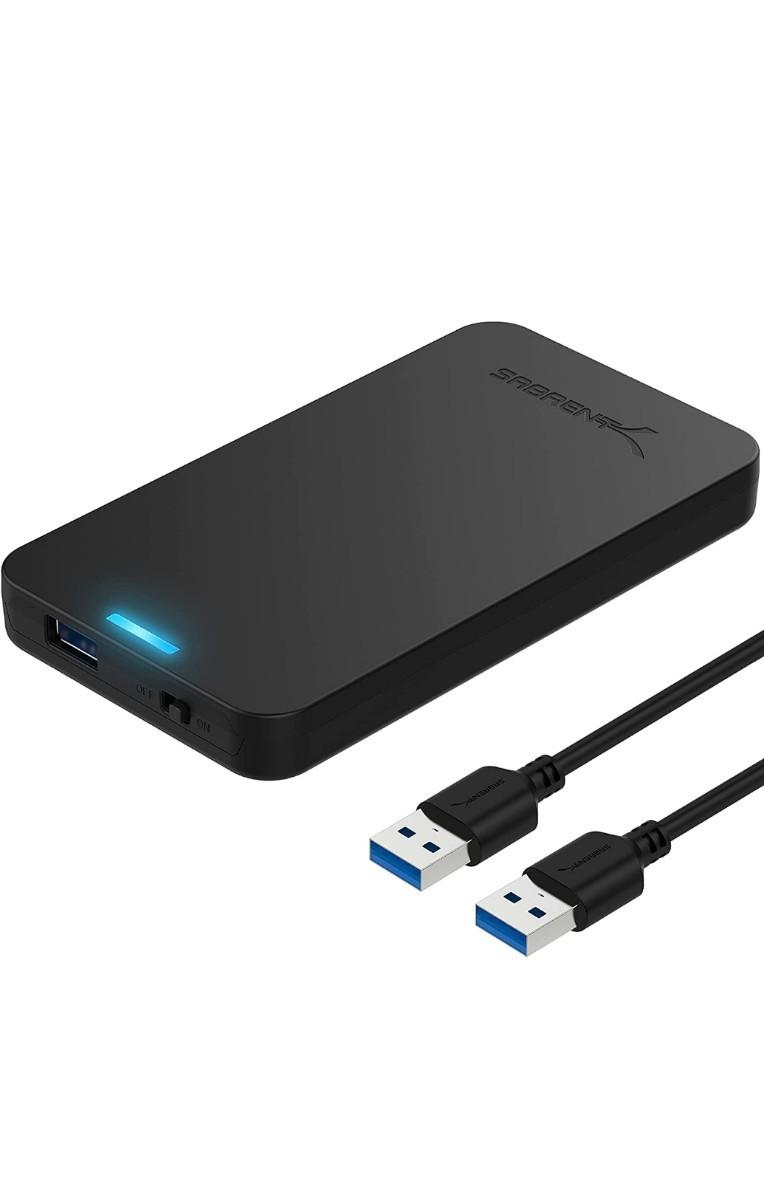 使用時間が短いUSB3.0外付けポータブルHDD750GB(HDD WD)