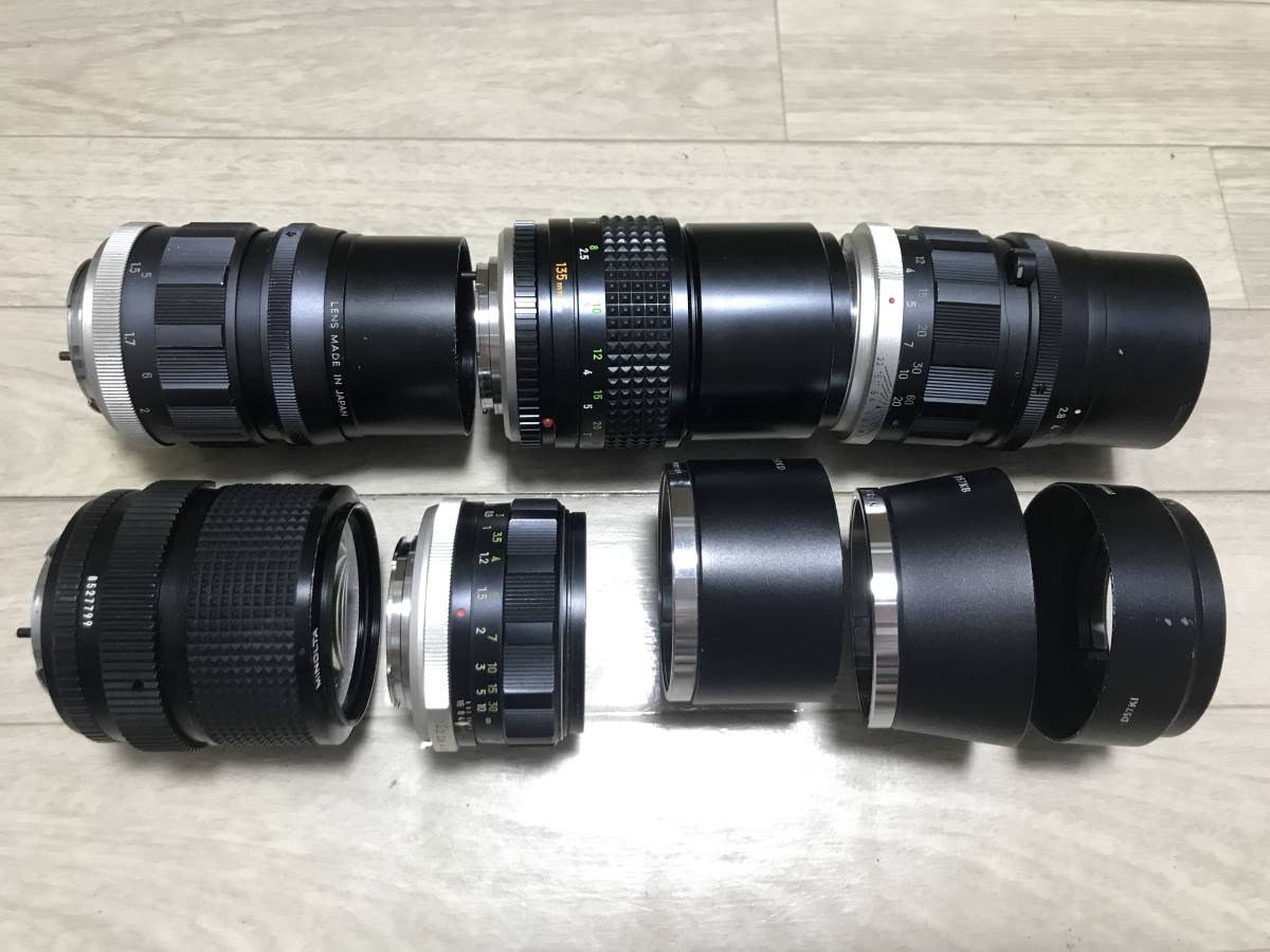 ★訳あり特価★ [5点セット] Minolta MC Rokkor-PF 58mm F1.4 Tele Rokkor-PF 135mm F2.8 MD Zoom 35-70mm F3.5 レンズ メタルフード 3272_画像4