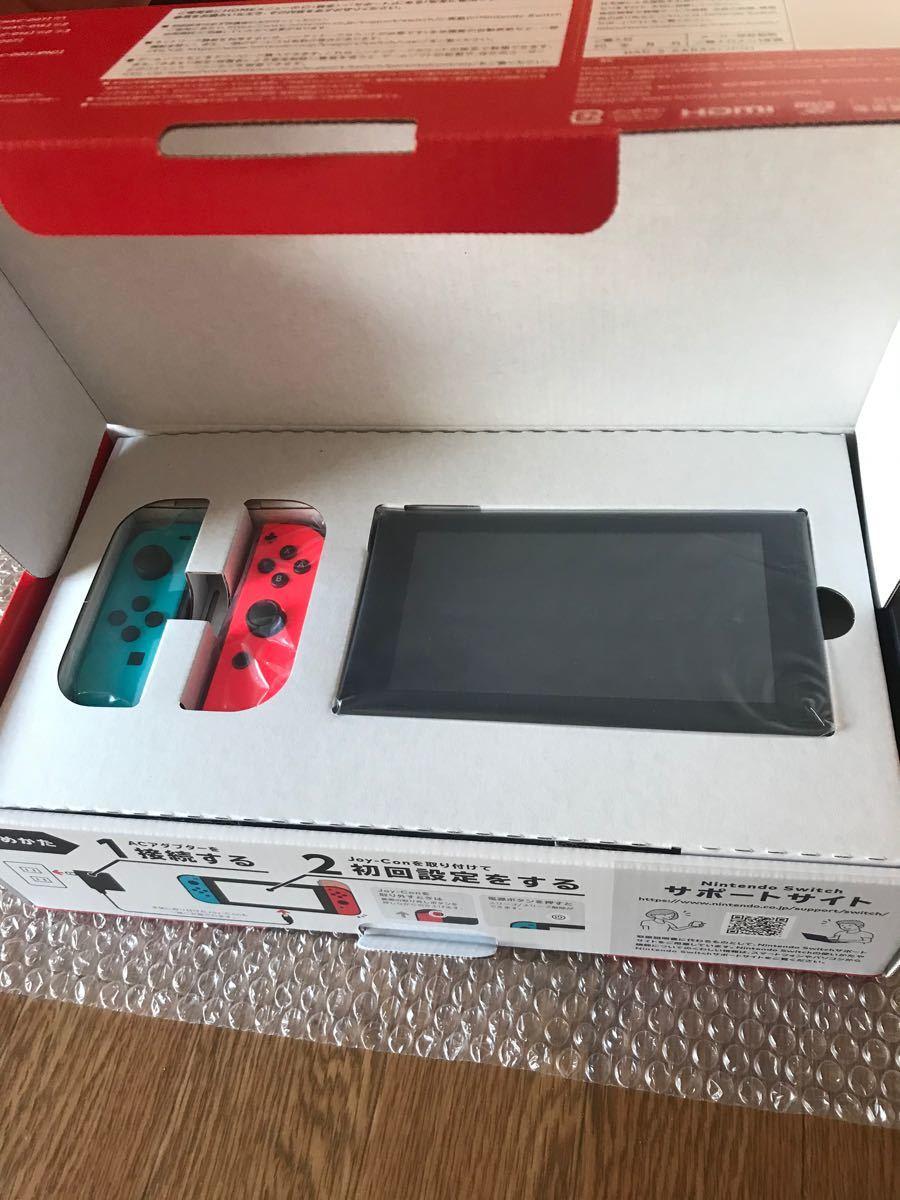 ニンテンドースイッチ Nintendo Switch 最大9.0時間程度の新モデル ネオンブルー&ネオンレッド 店舗印なし