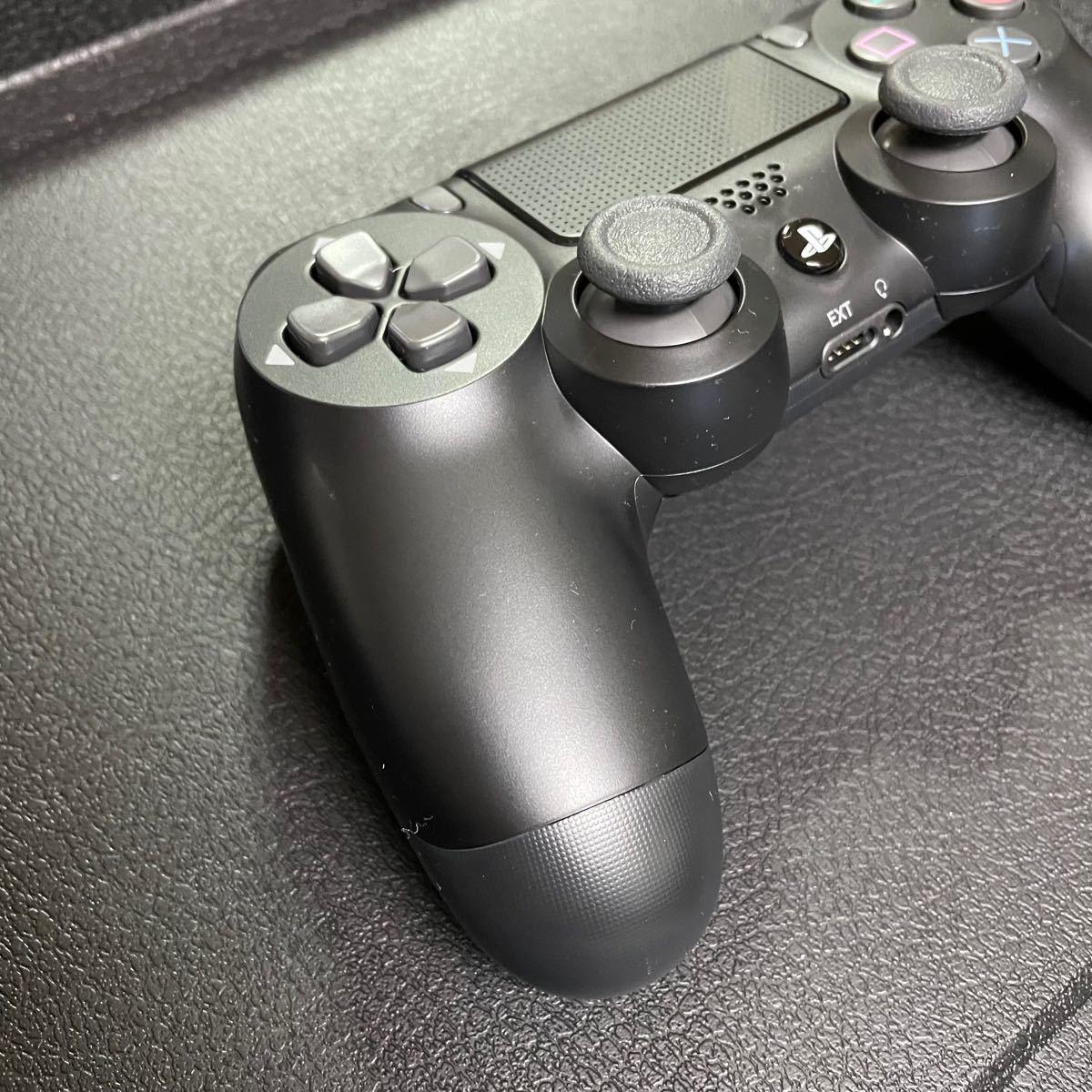 【美品】PS4 ワイヤレスコントローラー DUALSHOCK4 ジェットブラック