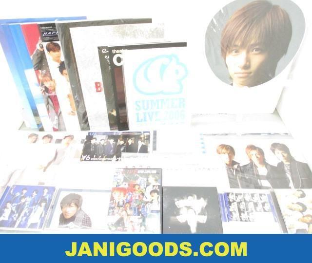 V6 グッズセット うちわ/パンフレット/DVD 等 ARENA TOUR 2002/グッデイ!! 含む 【良品