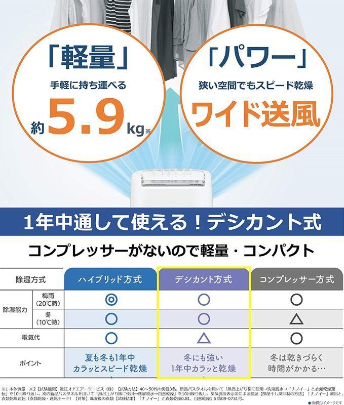 ★未使用★Panasonic(パナソニック) 衣類乾燥除湿機 デシカント方式 ~14畳 ブルー F-YZT60-A_画像5