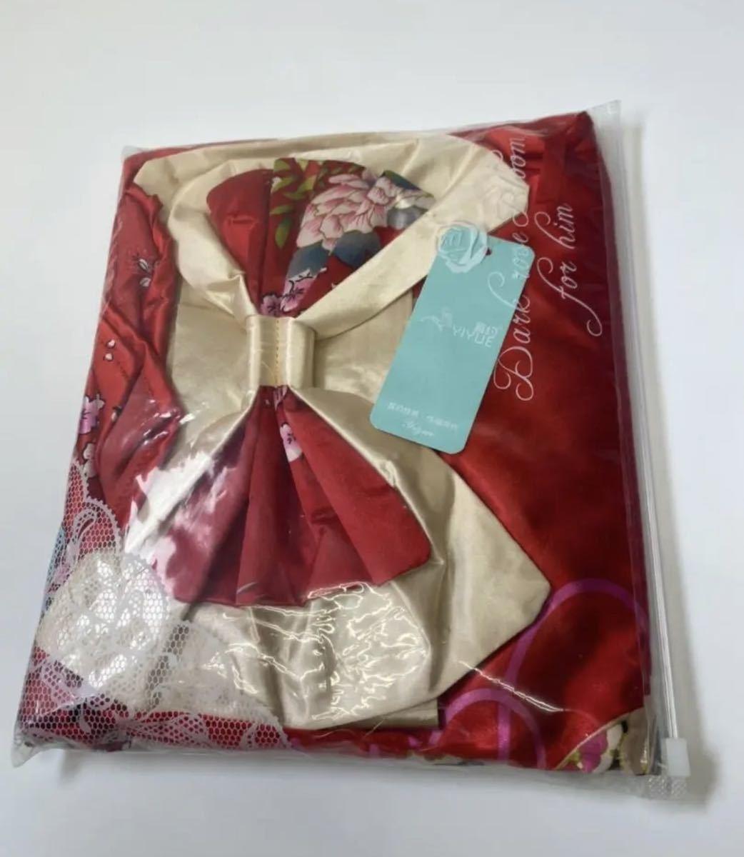 セクシーランジェリー ナイトウェア コスプレ衣装 レッド Tバック 花柄 浴衣 和風 着物ドレス ナイトウエア セクシーコスプレ 和服衣装