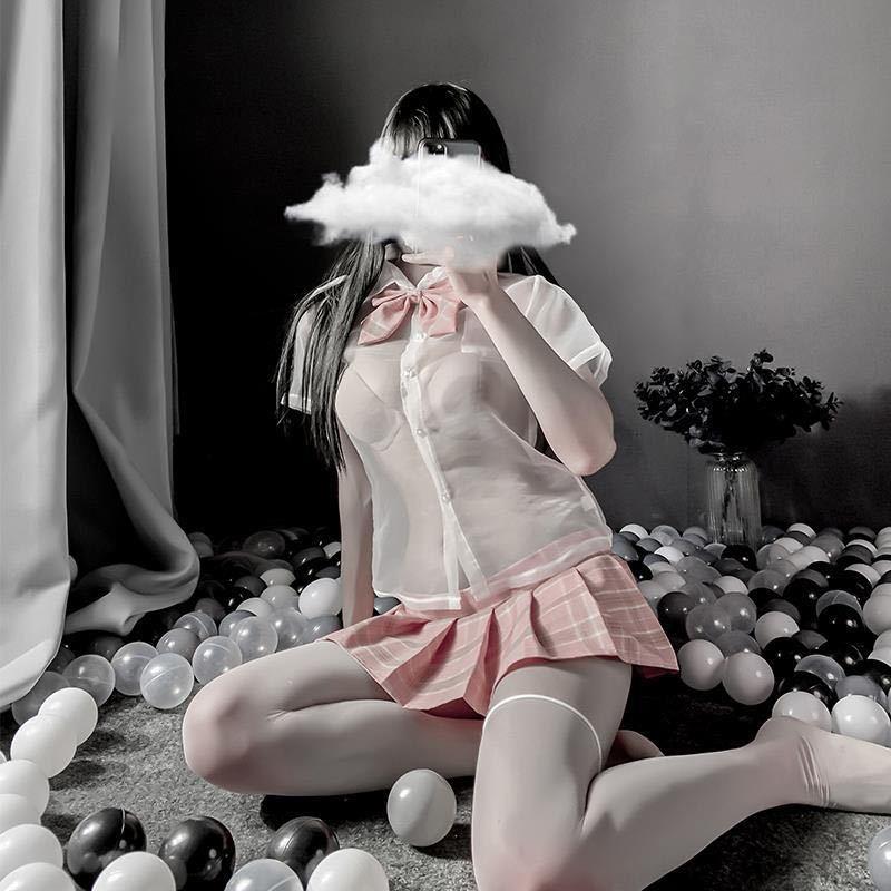コスプレ衣装 ベビードール トップス シースルー コスプレ エロ可愛い セクシー 制服 レース セクシーランジェリー セーラー服 学生服衣装_画像6