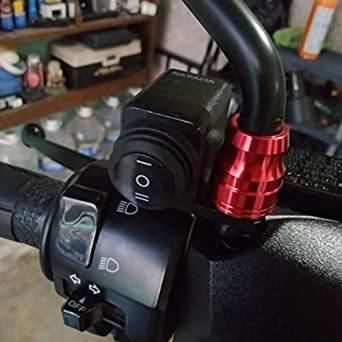 オートバイハンドルバースイッチ ATVバイク 12V ON-OFF-ON ヘッドライトフォグライトスイッチ 防水 過負荷保護 ブ_画像2
