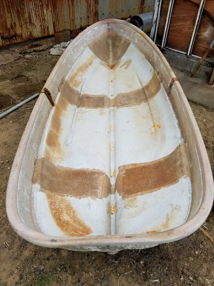 「経年保管中古品★ 小舟 船 ボート 手渡し」の画像1