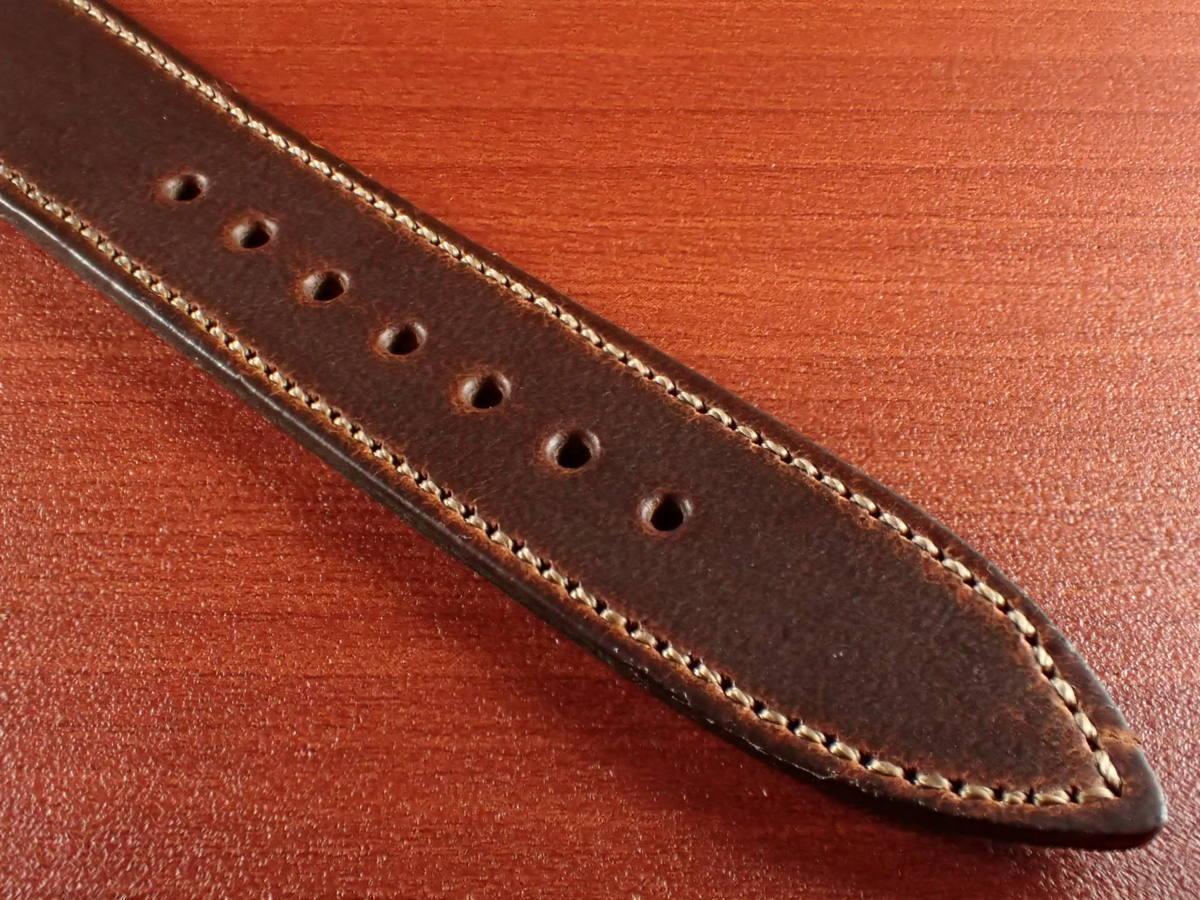 CBHC-03a ★新型★ アキュレイトフォルム ホーウィン クロムエクセル革ベルト レギュラー ティンバー 16mm、17mm、18mm、19mm、20mm_画像5