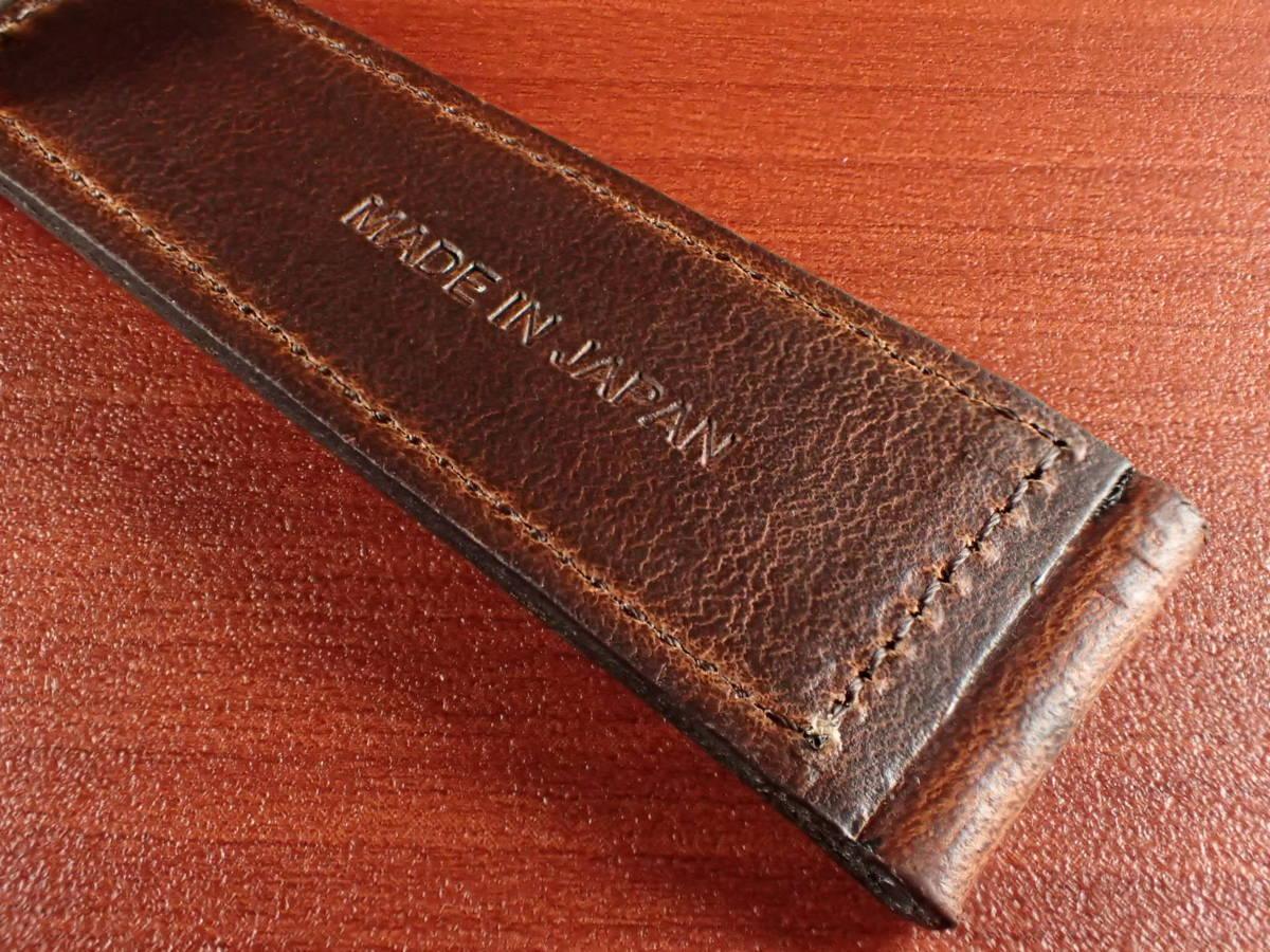 CBHC-03a ★新型★ アキュレイトフォルム ホーウィン クロムエクセル革ベルト レギュラー ティンバー 16mm、17mm、18mm、19mm、20mm_画像6