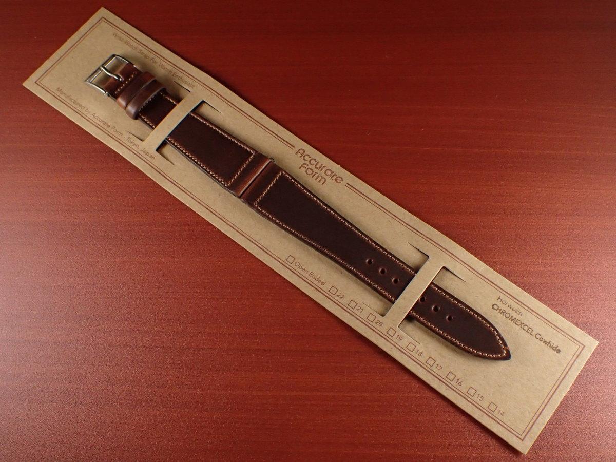CBHC-03a ★新型★ アキュレイトフォルム ホーウィン クロムエクセル革ベルト レギュラー ティンバー 16mm、17mm、18mm、19mm、20mm_画像1
