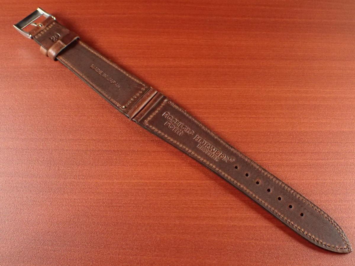 CBHC-03a ★新型★ アキュレイトフォルム ホーウィン クロムエクセル革ベルト レギュラー ティンバー 16mm、17mm、18mm、19mm、20mm_画像2