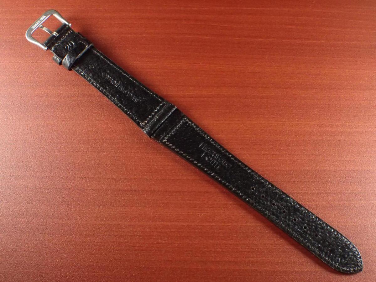 CBJP-001a アキュレイトフォルム ピッグ革ベルト 黒 レギュラー 14mm、15mm、16mm、17mm、18mm、19mm、20mm_画像2
