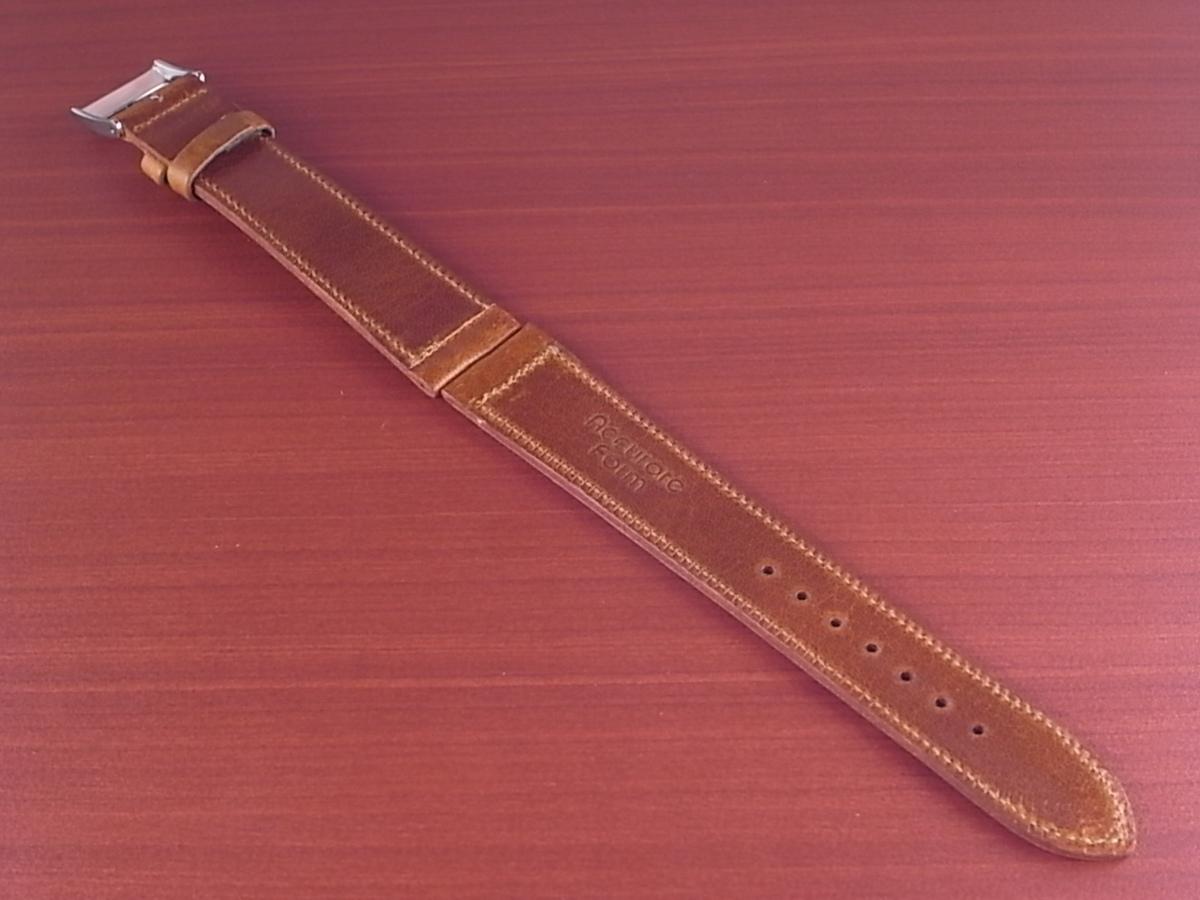CC-036a アキュレイトフォルム 艶ありヌメ牛ステア 革ベルト レギュラー ブラウン 17、20、21mm_画像2