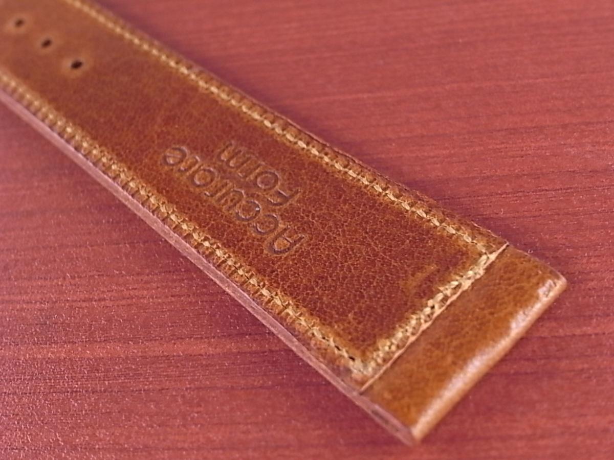 CC-036a アキュレイトフォルム 艶ありヌメ牛ステア 革ベルト レギュラー ブラウン 17、20、21mm_画像6