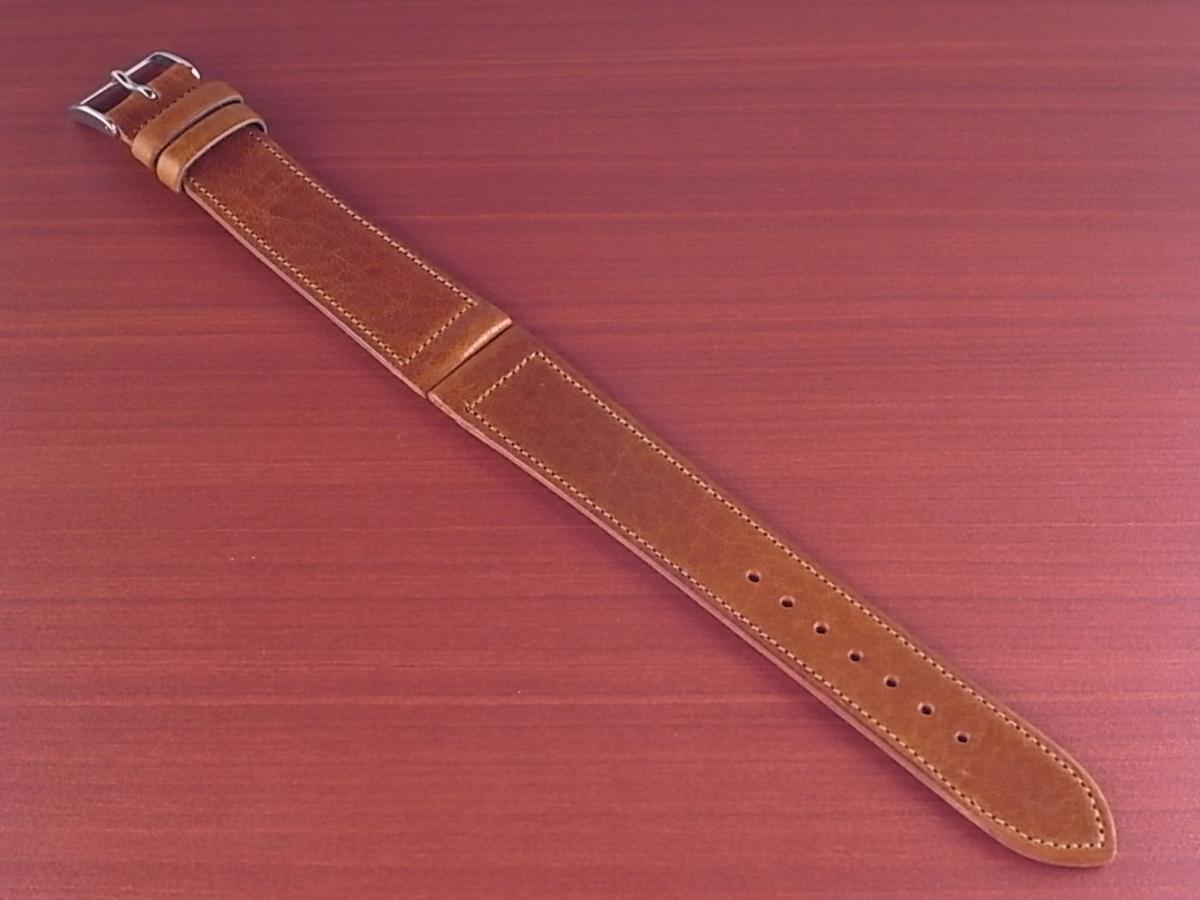 CC-036a アキュレイトフォルム 艶ありヌメ牛ステア 革ベルト レギュラー ブラウン 17、20、21mm_画像1