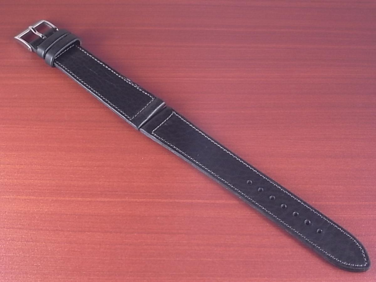 CC-034a アキュレイトフォルム 艶ありヌメ牛ステア 革ベルト レギュラー ブラック 17mm、21mm_画像1