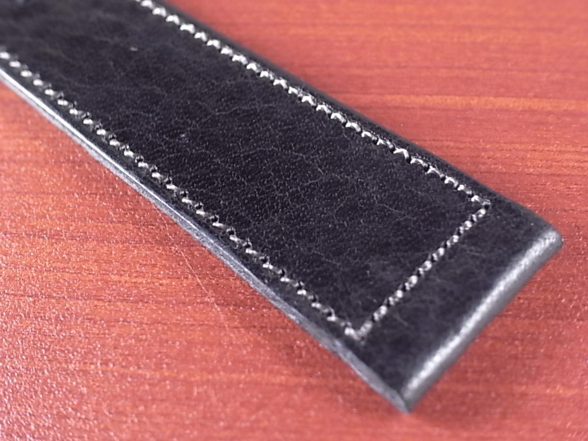 CC-034a アキュレイトフォルム 艶ありヌメ牛ステア 革ベルト レギュラー ブラック 17mm、21mm_画像5