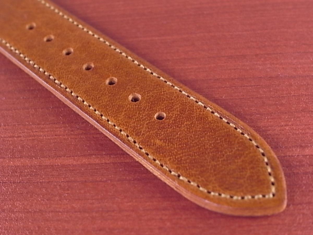 CC-036a アキュレイトフォルム 艶ありヌメ牛ステア 革ベルト レギュラー ブラウン 17、20、21mm_画像5