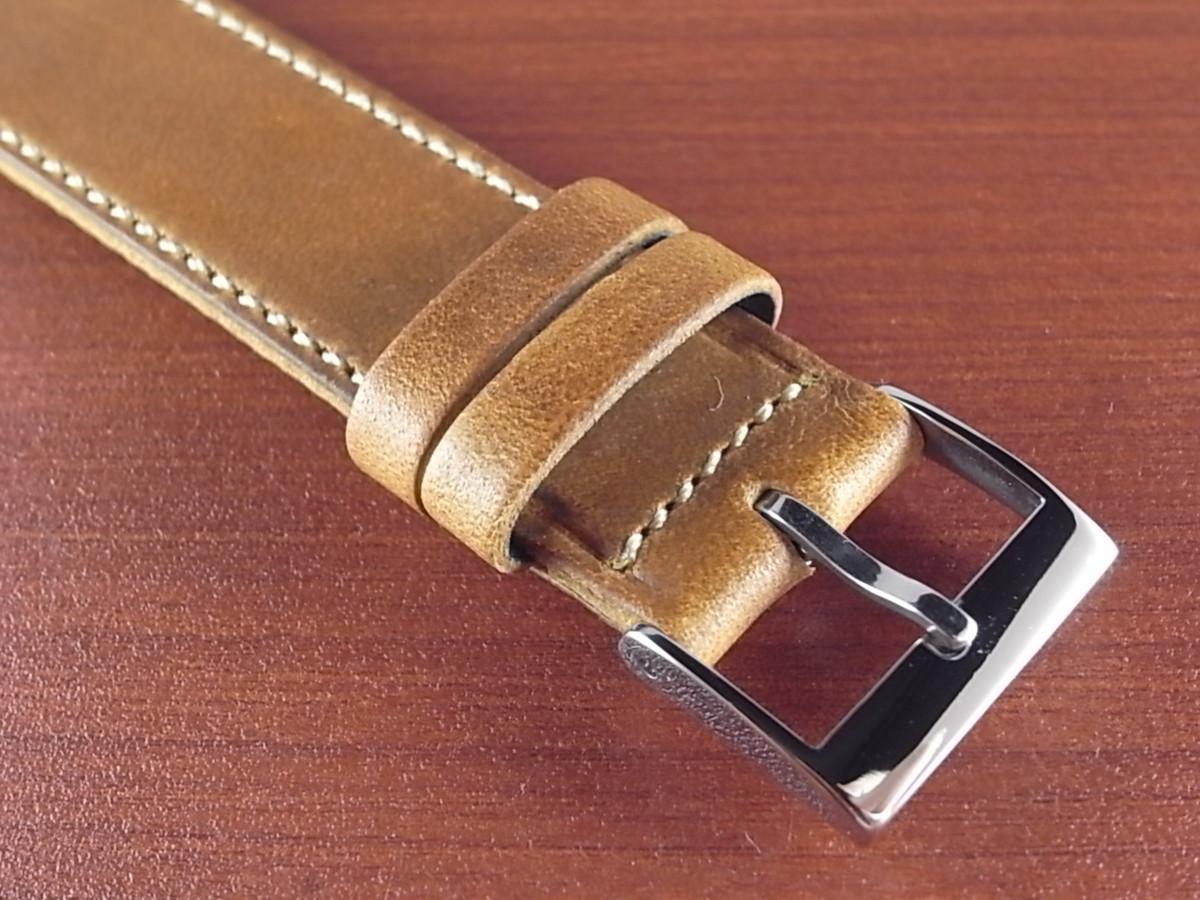 CBH-A033a アキュレイトフォルム ホーウィン クロムエクセル革ベルト レギュラー モカ 17mm、20mm_画像3