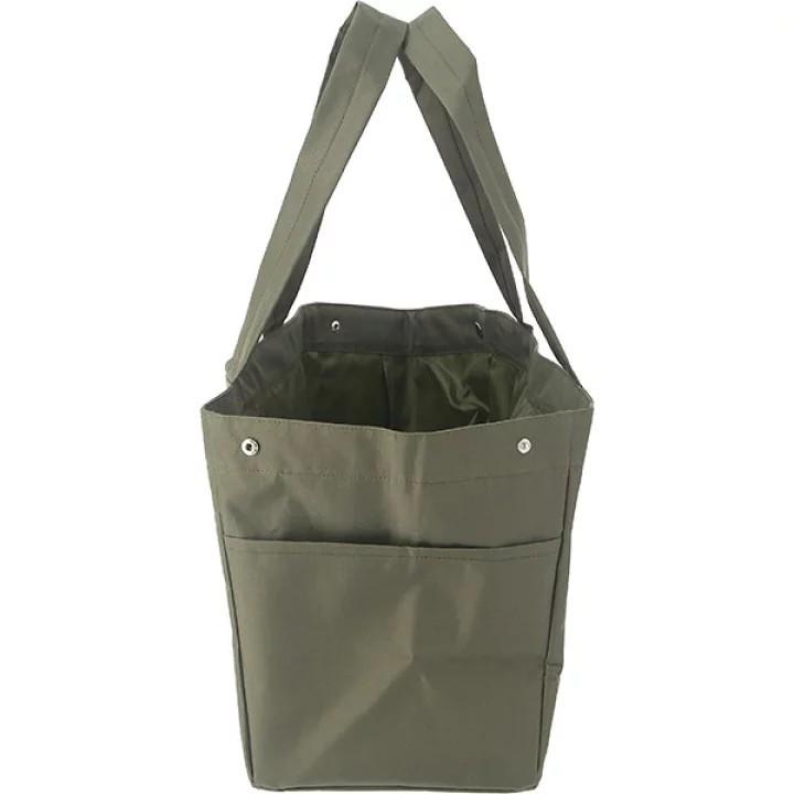 エコバッグ トートバッグ レジカゴバッグ 保冷 保温 ショッピング 買い物 レジ袋 カーキ 約20L