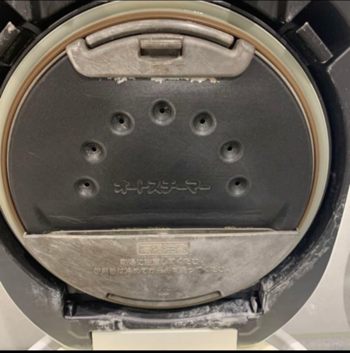 HITACHI 炊飯器 パールホワイト 圧力&スチーム IH 黒厚鉄釜