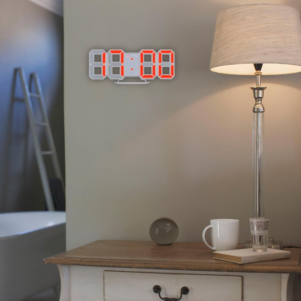 インテリア 壁掛け時計 デジタル ウォールクロック LED Digital Numbers Wall Clock インテリア SW _画像2