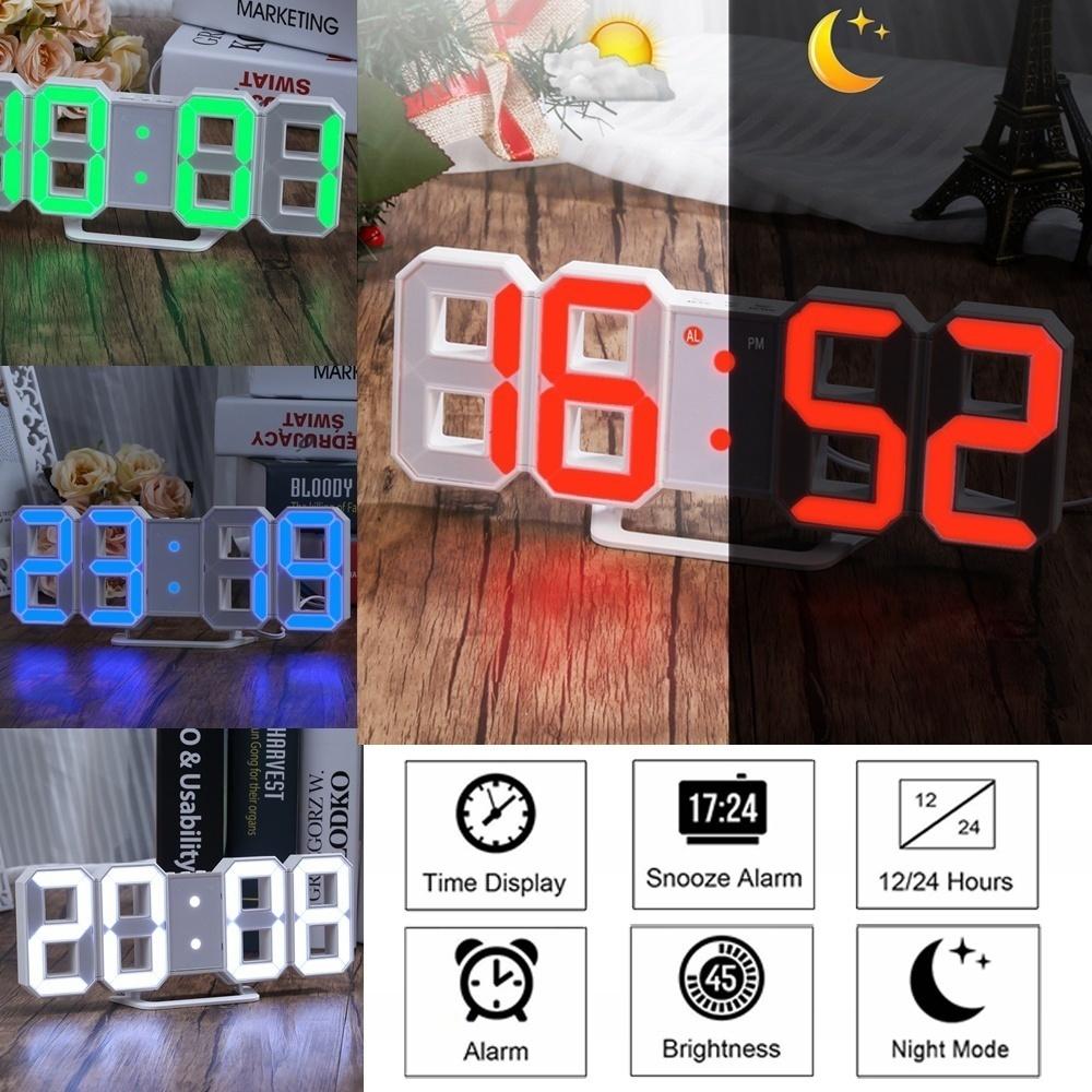 インテリア 壁掛け時計 デジタル ウォールクロック LED Digital Numbers Wall Clock インテリア SW _画像3
