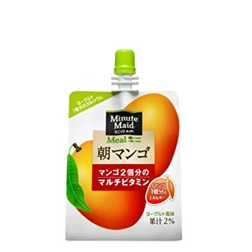 コカコーラ ミニッツメイド 朝マンゴ180gパウチ×24本入_画像1