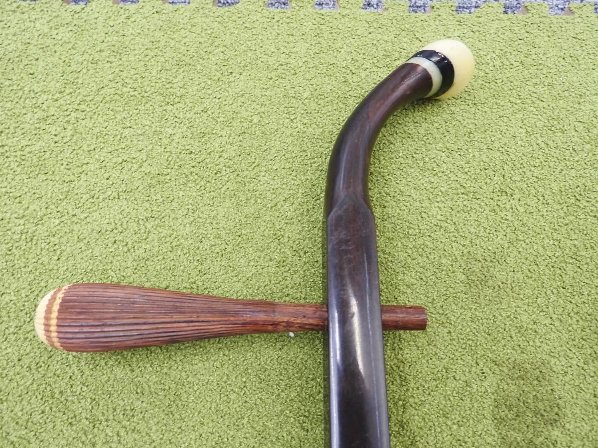 二胡◆敦煌牌 中国 上海民族楽器 蛇革 弦楽器◆現状お渡し品「管理№F2976」_画像2