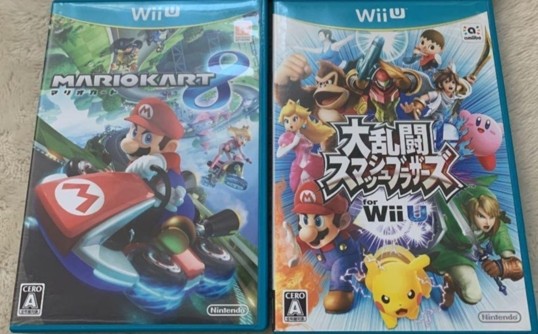 WiiU マリオカート8+大乱闘スマッシュブラザーズ 動作確認済 送料無料