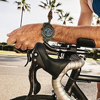 5-グリーン 腕時計 メンズ デジタル スポーツ 50メートル防水 おしゃれ 多機能 LED表示 アウトドア 腕時計(グリーン)_画像3