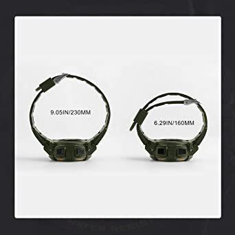 5-グリーン 腕時計 メンズ デジタル スポーツ 50メートル防水 おしゃれ 多機能 LED表示 アウトドア 腕時計(グリーン)_画像8