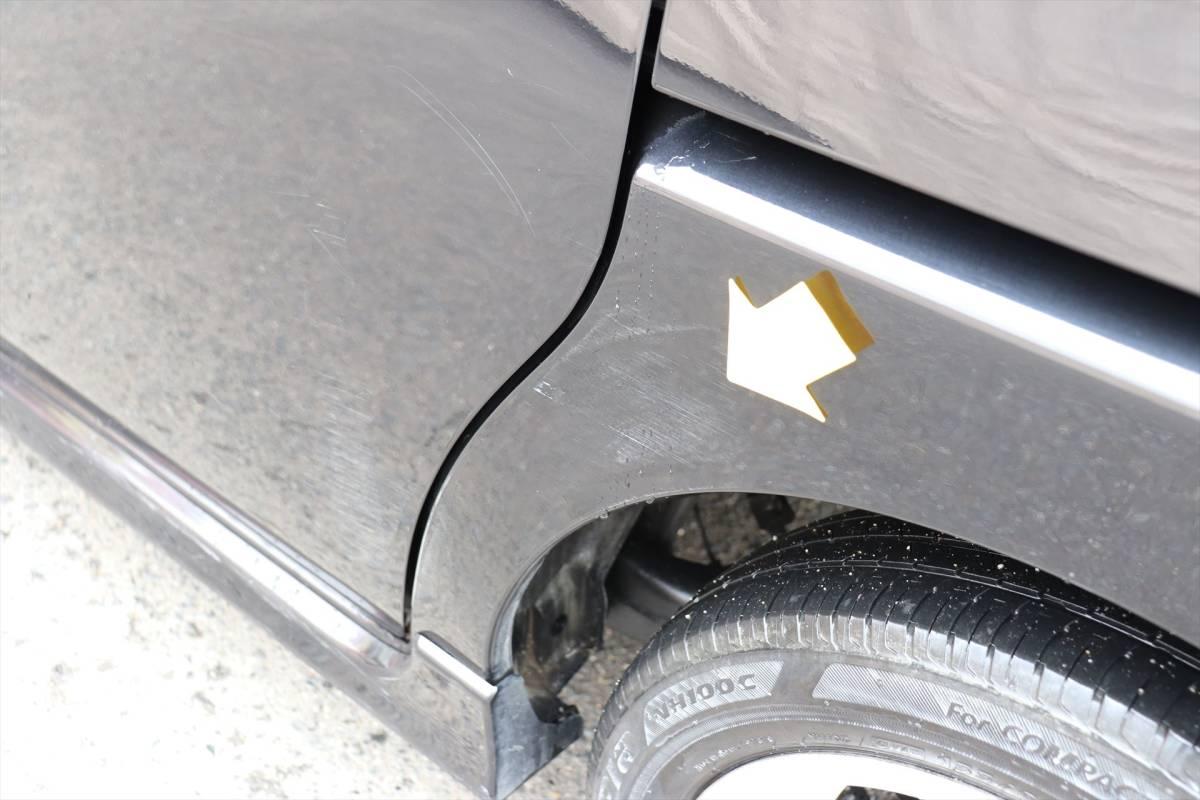 乗出し価格!! 車検2年付 タントカスタム 20年式 10.4万km 修復歴無し スマートキー タイミングチェーン 全国名変無料 諸費用コミコミ!_左リアフェンダーにキズがあります