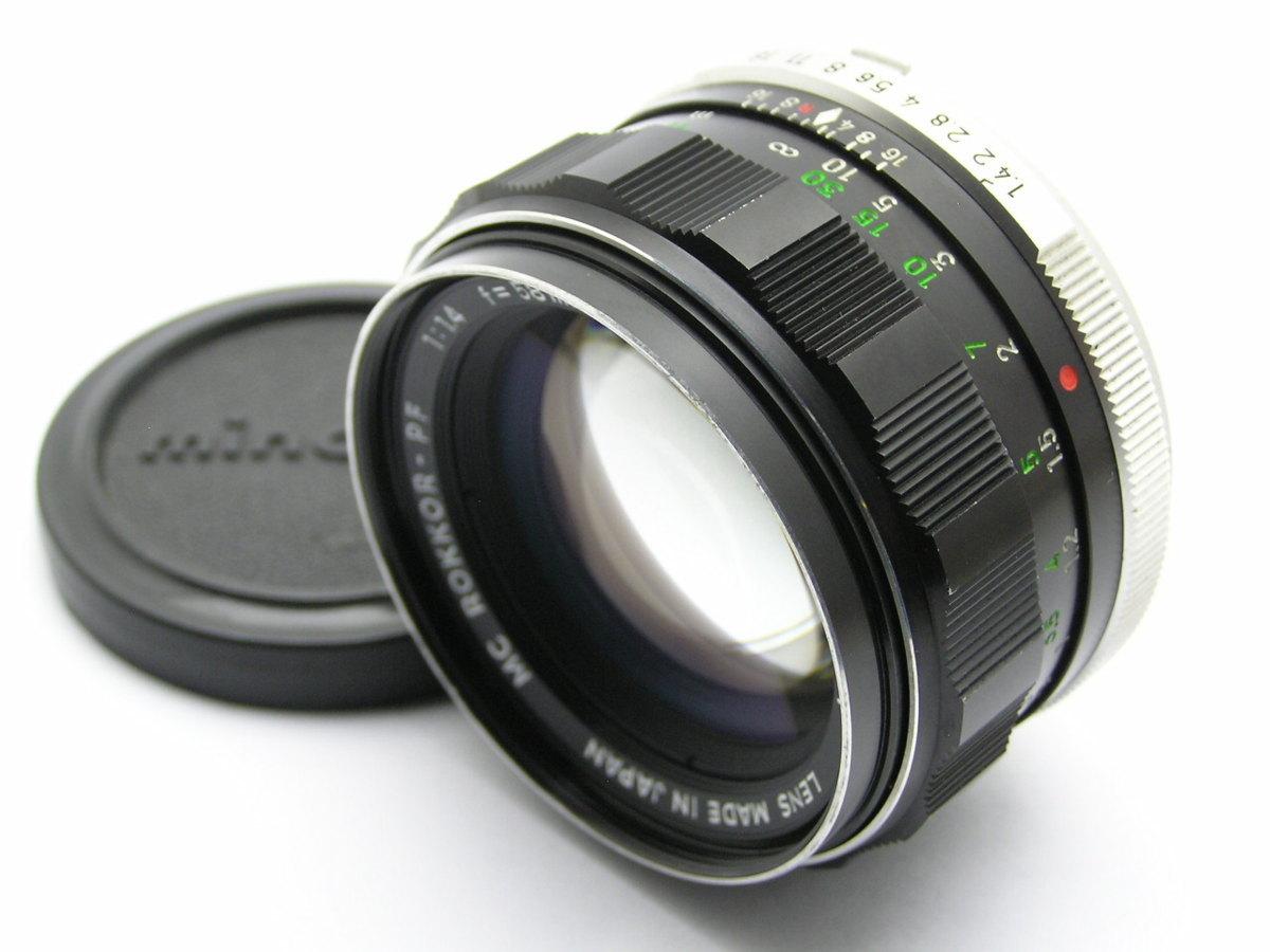 ★ハローカメラ★1242 MINOLTA MC ROKKOR-PF ( 58mm F1.4 ) 難有 動作品 現状 1円スタ-ト 即決あり