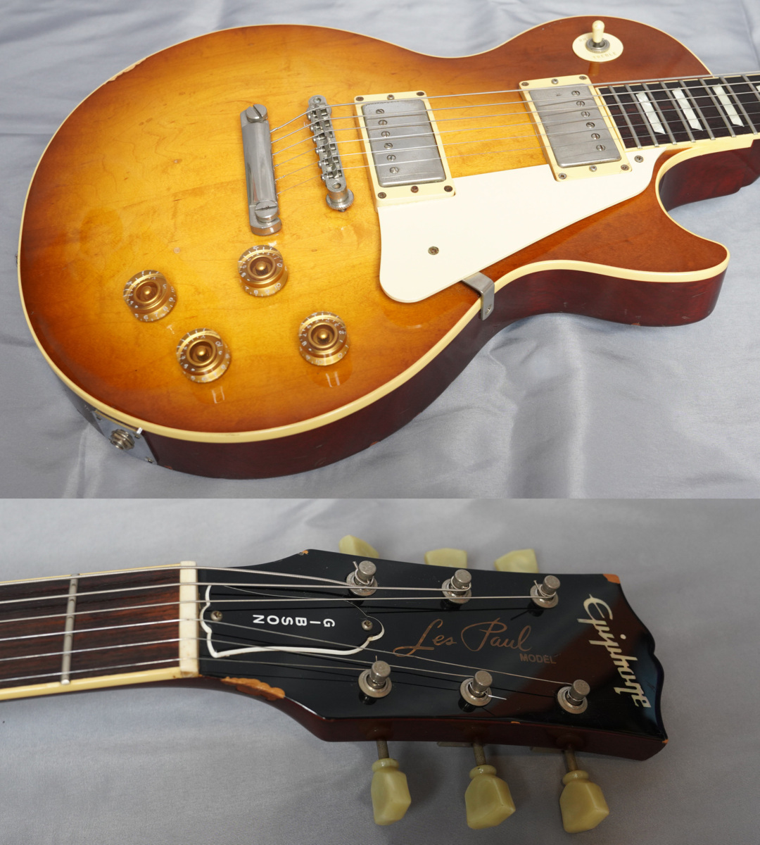 ★Epiphone Japan★Les Paul Standard LPS-80 HB MADE IN JAPAN 日本製 ヘヴィーレリック調 レスポール スタンダード エピフォン★_画像2