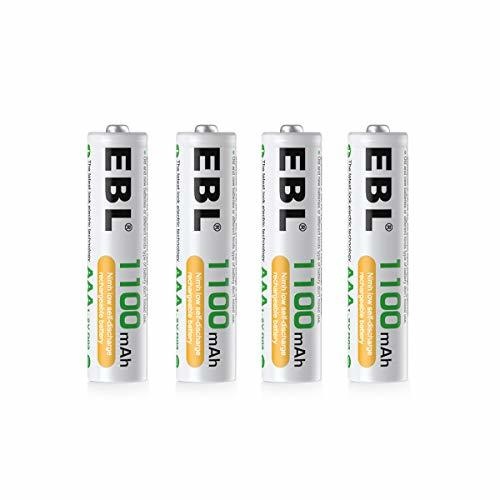 EBL 単4電池 4本パック EBL 単4形充電池 充電式ニッケル水素電池 高容量1100mAh 4本入り 約1200回使用可能_画像1