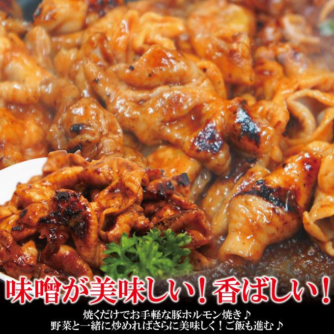 特製みそだれ味国産豚ホルモン500g冷凍 焼肉やもつ鍋に最適【もつ】【大腸】【味噌】_画像4