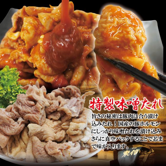 特製みそだれ味国産豚ホルモン500g冷凍 焼肉やもつ鍋に最適【もつ】【大腸】【味噌】_画像2