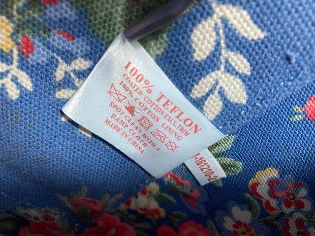 ※11398 CATH KIDSTON 大型 ラージトートバッグ ブルー系 花柄 レディース キャスキッドソン USED_画像7